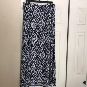 Aztek tribal print maxi skirt